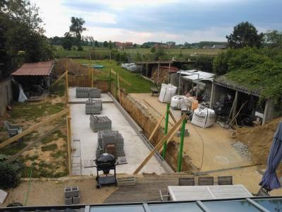 De opbouw van een zwemvijver - De naad bouwen ...