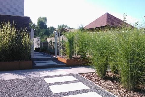 Uw ideale tuin een totaalproject for Ontwerp voortuin met parkeerplaats